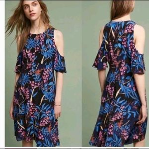 Anthro Maeve Elia Tripical Floral Dress Size 8